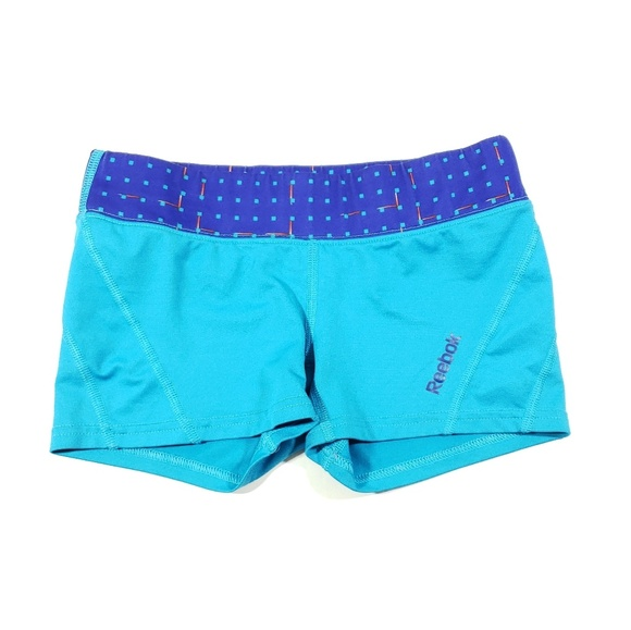 Reebok Pants - Reebok size xsmall Womens blue teal stretch shorts